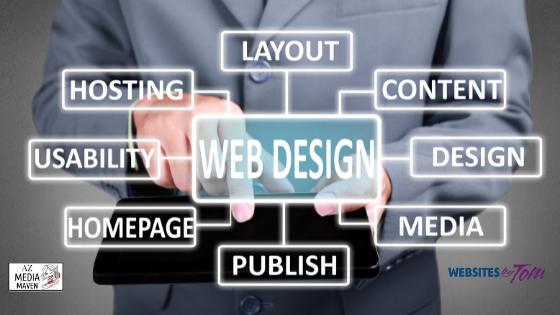 PHoto shows elements of web design.